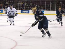 Captain Mark Van Guilder assisted on three of Notre Dame's seven goals (photo: Candace Horgan).