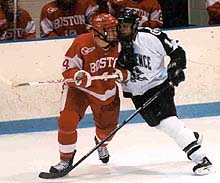 Cole Gendreau (right) came up big and extended his college career.
