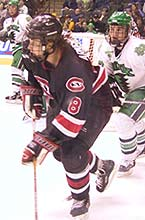 Tyler Arnason turned in another huge performance against North Dakota in the 2001 WCHA title game.