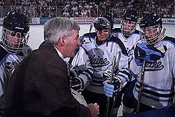 Shawn Walsh went 399-215-44 in 17 seasons behind the Maine bench.
