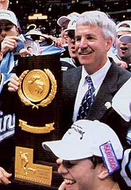 Walsh led the Black Bears to national championships in 1993 and 1999. (photos courtesy Maine sports information)