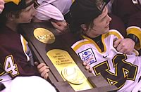 Matt Koalska (l.) helped Minnesota to the national title, but the Gophers will try to repeat without, among others, John Pohl (r.) (photo: Jason Waldowski).