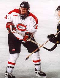 St. Cloud assistant captain Nate Dicasmirro is a big reason why the Huskies are a national title contender.