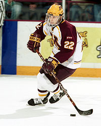 Jeff Taffe was second in the nation with 34 goals this past season including a nation's best 14 on the power play. (photo: Michelle King/Minnesota sports information)