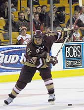Tony Voce played in two Frozen Fours at Boston College, winning the 2001 NCAA title.