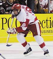 Radoslovich has found a home on the Terriers' fourth line.