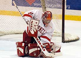 Dave LeNeveu has five shutouts this season, and leads the nation with a 1.17 goals against average. (photo: eLynah.com)