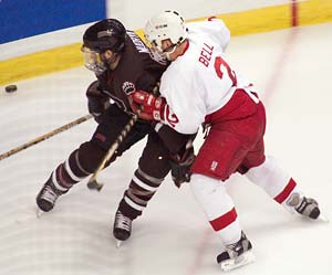 Travis Bell doesn't score many goals for the Big Red, but makes them count when he does.