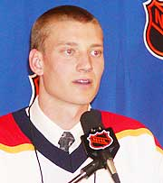 Jay Bouwmeester was the consensus No. 1 pick, until a trade threw the NHL Draft into turmoil. Bouwmeester was eventually selected third by Florida.