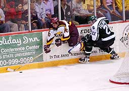 Ferris State is challenging the CCHA's traditional powers this season.