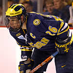 Jed Ortmeyer has been the two-time captain of the Wolverines (Photo:  Talya Arbisser)