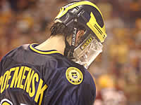 Mike Roemensky and Michigan were eliminated by Minnesota again (photo: Talya Arbisser).