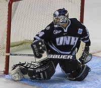 Mike Ayers backstopped UNH to the NCAA title game (photo: Pedro Cancel).