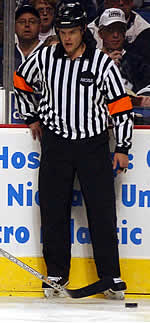Referee Don Adam made the initial call on the play (photo: Talya Arbisser).