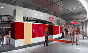 An artist's rendering of the concourse.