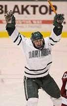 Hugh Jessiman rejected the pros to play again at Dartmouth.
