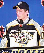 Incoming Wisconsin defenseman Ryan Suter was taken by the hometown Nashville Predators with the seventh pick. (photos: Rich DeLisle)