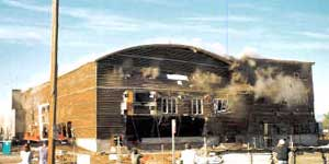 The old Denver Arena, the day it was imploded.