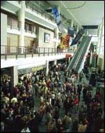 The arena concourse at the First Union Center.