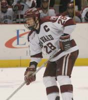 Harvard captain Kenny Smith was benched for two games, but returned as the Crimson streaked to an ECAC title. (photo: Timothy M. McDonald)