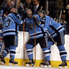 The Black Bears' crash line has stepped up its production lately.