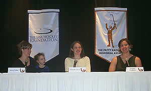 The finalists, (l-r): Jenny Potter and her daughter, Madison, Chanda Gunn, and Angela Ruggiero (photos: Russell Jaslow).