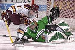 UMD's chance at the MacNaughton Cup was stopped when it tumbled against North Dakota recently.