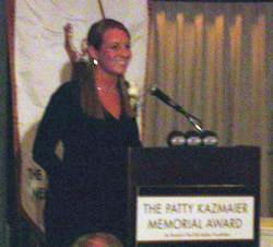 Krissy Wendell is all smiles after winning the Patty Kazmaier Award.