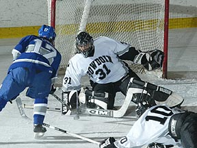 George Papachristopoulos is among national leaders in goaltending statistics while backing Polar Bears' climb in the rankings.