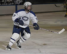 First Team All-NESCAC defenseman Patrick Walsh Leads Colby against Middlebury in the conference semifinals.