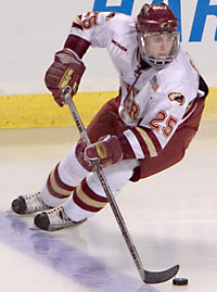 With Brett Skinner gone, the importance of Matt Carle to DU increases (photo: Melissa Wade).