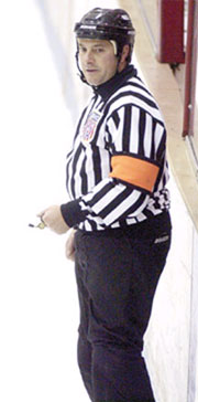 John Gravallese is the grizzled vet of Hockey East referees at age 44.