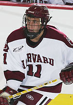 Jon Pelle of Harvard was among the former Apple Core Junior standouts taking part in the Alumni game.