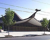 Yale's Ingalls Rink was designed by the same man who envisioned St. Louis' historic Gateway Arch (photo: Yale athletics).