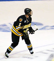 Jeff Caron will look to improve his game and take a chance on next year's NHL Draft. (photo: Kelly McGinnis)