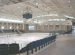 Chip Kenyon '85 Arena boasts an Olympic sheet and spacious accommodations. (Photo: Middlebury College)