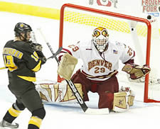 Peter Mannino was the right choice for DU in the national semifinals (photo: Pedro Cancel)