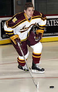 Norwich freshman Raphael Robitaille gets his first taste of playoff hockey when the Cadets host Castleton State on Saturday.