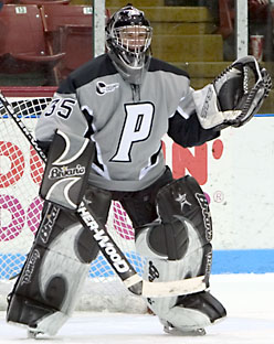 Tyler Sims is expected to assume the number-one goaltending slot for the Friars (photo: Melissa Wade).