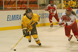 Kelly Crandall tallied a goal and an assist to lead the Gusties.