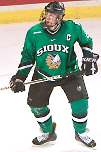 UND captain Matt Greene and the Sioux stepped it up after a fateful trip in February (photo: Melissa Wade).