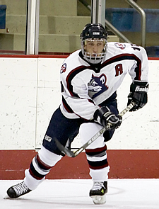 Captain Jon Lounsbury leads the Huskies to contention in the ECAC East. (Photo: Noelle Neuwirth/USM)