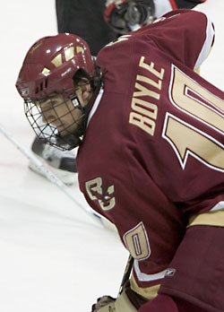 BC's Brian Boyle has scored his share of big goals for the Hockey East preseason favorites (photo: Melissa Wade).