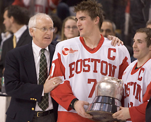 Boston University won its 27th Beanpot earlier this month -- and college hockey itinerant Nicholas Jon Wood was there (photo: Melissa Wade).