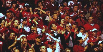 The Wisconsin crowd was the seventh man for the Badgers Saturday (photo: Skip Strandberg).