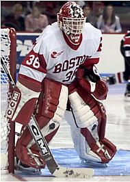 John Curry and the Terriers won yet another Beanpot championship Monday night (photo: Melissa Wade).