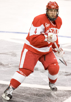 Terrier captain Sean Sullivan is among those taking Jack Parker's concerns to heart (photo: Melissa Wade).