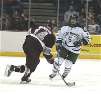Johnson backpedals on D during Saturday's game against Colgate.