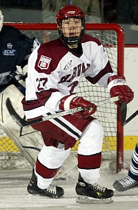Kevin Du is the reigning ECACHL Player of the Week (photo: Harvard athletic media relations / DSPics.com).