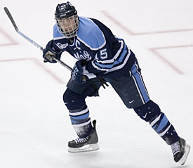 Greg Moore captains Maine into its fifth Frozen Four in the last eight years (photo: Melissa Wade).